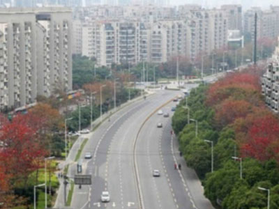 金shan大道路缘石排水沟an例